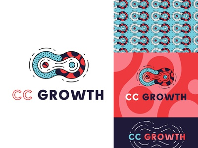 Adobe CC Growth typography design branding illustrator type blue logo illustration