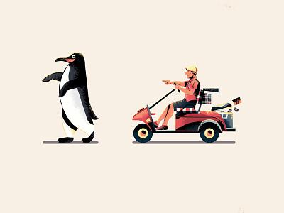 Too Damn Hot adam sandler penguin black illustrator orange illustration