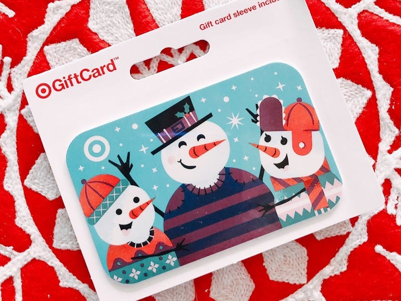 Snowman Target GiftCard gift card snowman snow christmas illustrator target