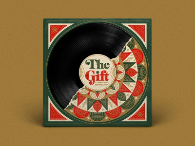 The Gift Reach Records rap hip hop record vinyl record vinyl packaging illustrator type illustration