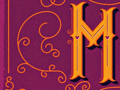 M type typography font disney artist flair whimsical