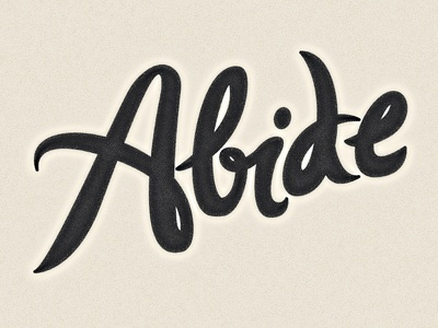 abide logotype by adam grason dribbble