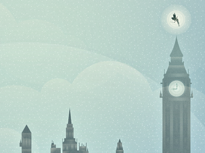 Off To Neverland 2 type typography font disney artist peter pan neverland london