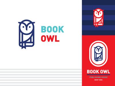 Book Owl brand designer logo design logotype branding design brand logo