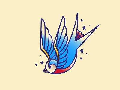 Swallow Tattoo tattoo design bird swallow tattoo art tattoo illustration
