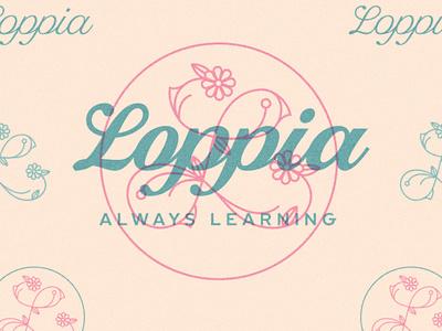 Loppia flower logo logo design mothers brand flower logotype logo
