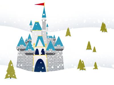cinderella castle by adam grason dribbble