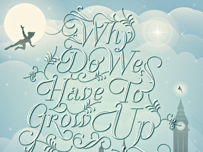 Never Grow Up By Adam Grason Dribbble Dribbble