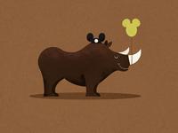 Disney Parks Rhino