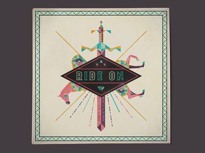Ride On Single Album Art album cd music cover horse sword diamond trinity
