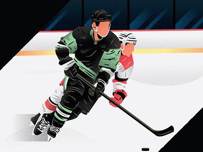 Hockey hockey player hockey stick illustration art ice hockey illustrator illustration