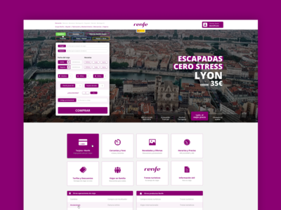 Renfe Homepage (visual concept)
