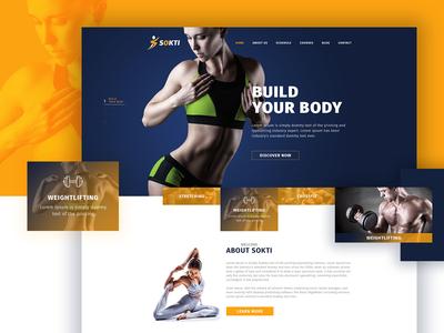 Sokti Fitness & Gym Template