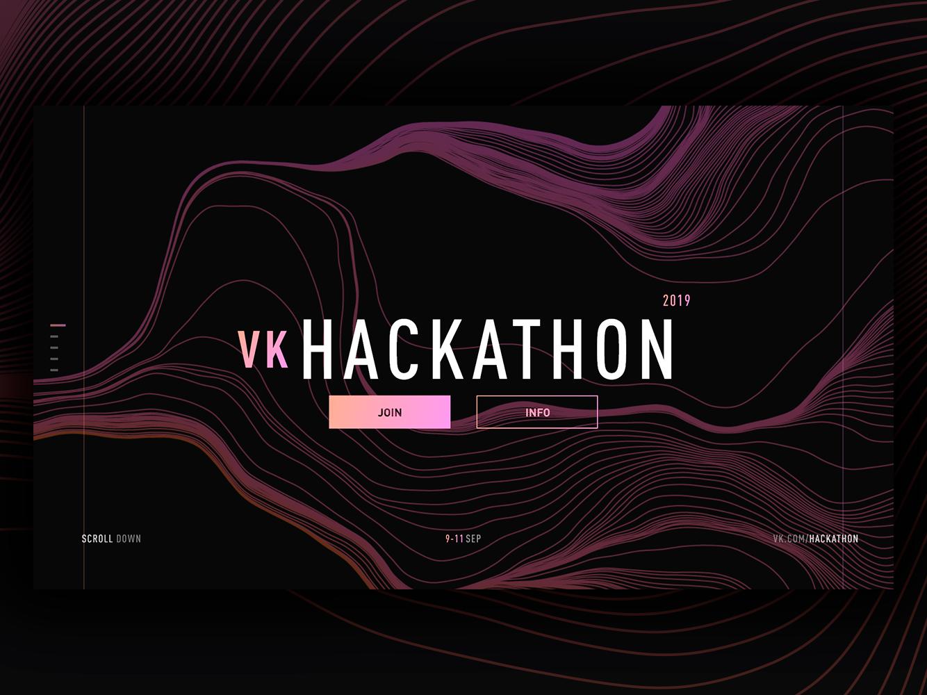 UI Practice Shot #2 single page dark gradient web hackathon vk ui design abstraction