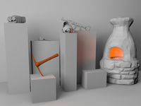 """Rust """"Museum"""" 3D Scene"""