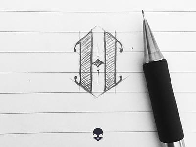36days_H sketching sketch letterh 36daysoftype08 36days type 36dayoftype lettering typography branding design marca logotipo logotipe logo branding brand