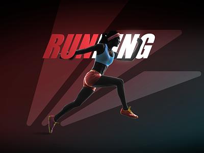 Vanwilder Fitness club trend latest brand gym girl ux web logo red black race run health fitness graphic design gradient design creative ui