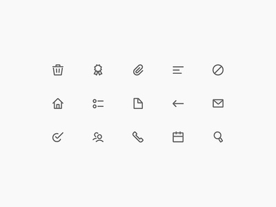 Iconic ui interface user icons