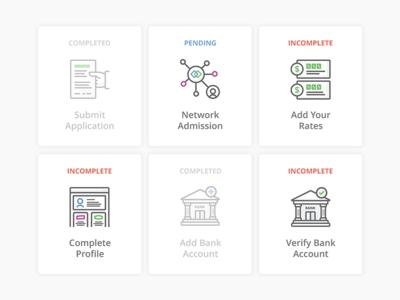 Git-R-Done dashboard application rates profile bank illustration tasks ui interface user icons