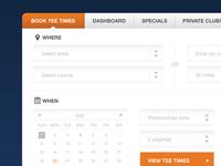 Golfzing Website Concept