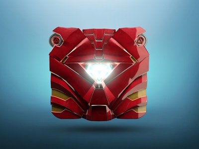 Mark 3 Icon marvel avengers 3d icon icon ironman mark 3 icon suit arc iron mark superhero robot arcreactor red metal