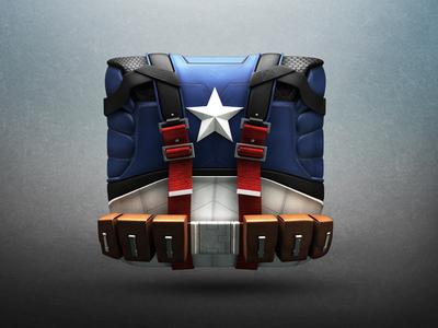 First Avenger Icon superhero steve rogers belt soldier captainamerica icon marvel oldschool steverogers suit hero firstavenger supersoldier 3d 3dicon