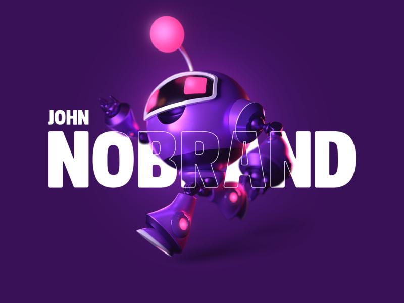 John Nobrand New Face! branding logo design john nobrand
