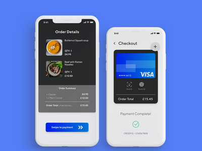 Daily UI 002 - Checkout Page clean payment mobile app ux ui design