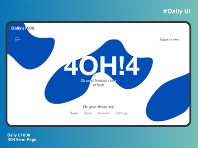 404 error page webdesign 404 error ux flat dailyui ui clean design