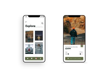 App UI flat xd ui mobile clean design