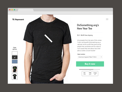 Fundraising campaign page website fundraising web web design t-shirt