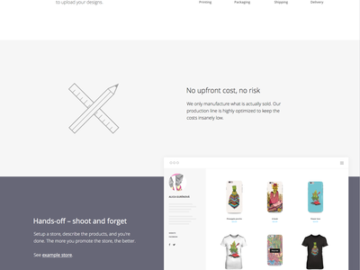 Represent Designer Stores shop store web landing page
