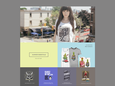 Represent homepage layout