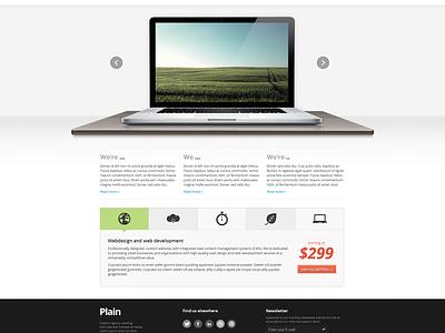 Plain HTML Template website template project clean web