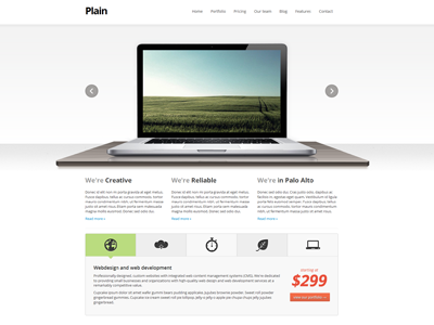 Plain HTML Template website template project clean web