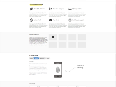Solo web website template homepage single-page