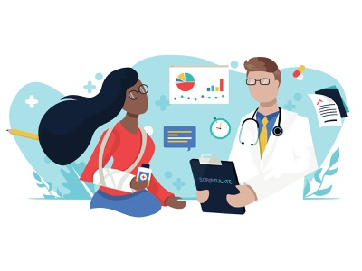 Scriptulate Website Illustration Redesign app medical illustration redesign blue medical app vector minimal web ui flat medical icon illustration adobe illustrator