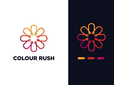 Colour Rush - Gradient logo concept creative logo concept colorful design colorful logo design concept logo concept logo design graphic design minimal geometric logo gradient gradient logo floral logo flower logo branding illustration vector design adobe illustrator cc logo