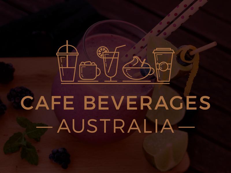 Cafè Beverages Australia Logo beverage australia hot chocolate chai smoothie glass cup adobe illustrator cc cafe logo design logo design icon line art cafe cafe logo symbol design logo