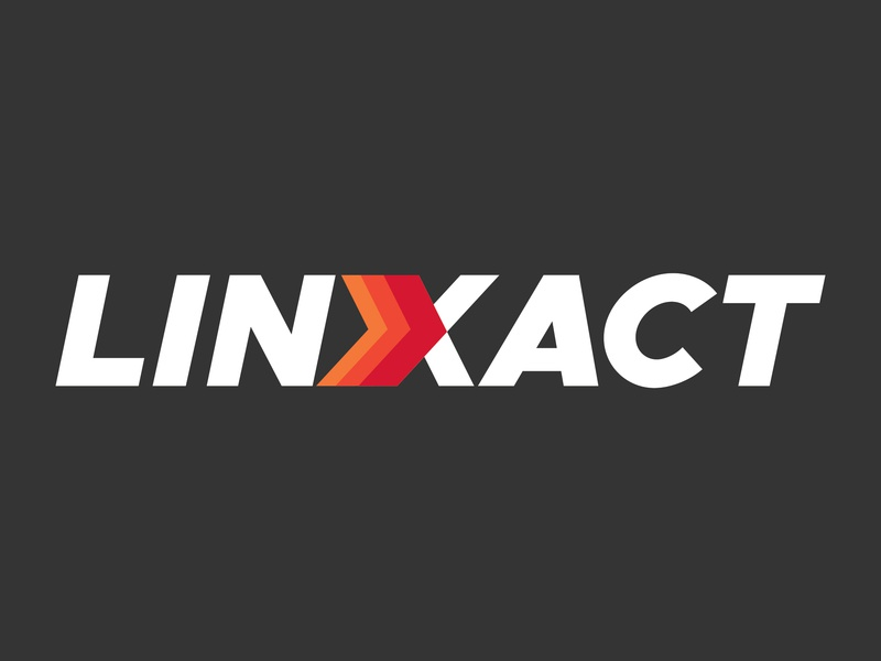Linxact Logo - Hidden backlink checker tool flat gradient texture arrow logo seo tool logo wordmark typography logo design logo