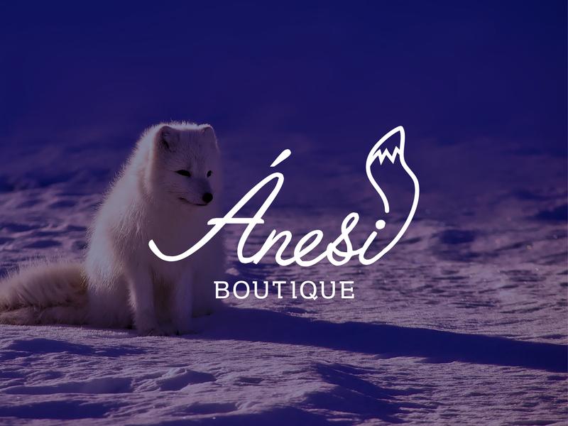 Ànesi Boutique Logo wordmark boutique logo line logo logo concept logo design logo fox tail logo fox logo