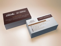 Cafè Beverages Australia Business card design