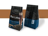 Original chai latte powder Packaging concept