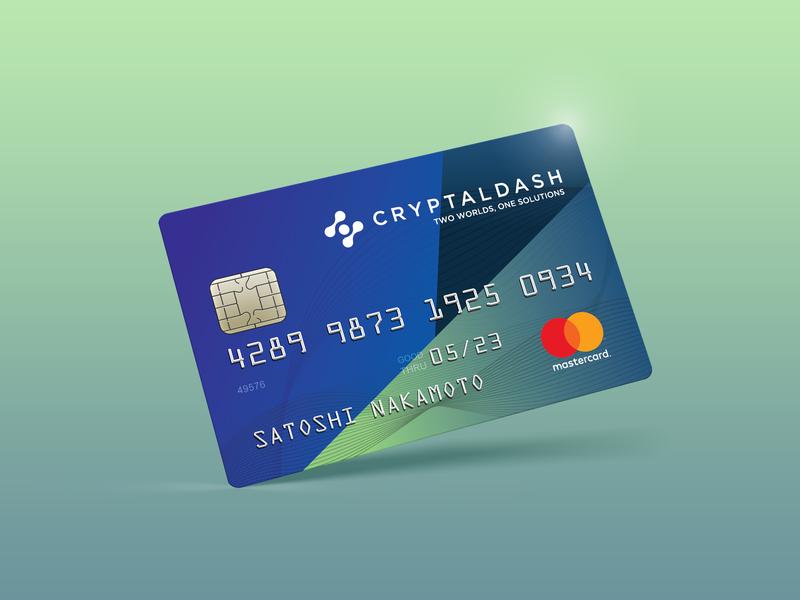 Cryptal Dash Credit/debit card draft concept design concept plastic card crypto currency crypto debit card credit card design credit card adobe illustrator cc
