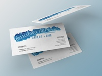Make Up Artist Business card Concept