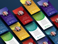 Virtual staff 365 Business cards - colour versions