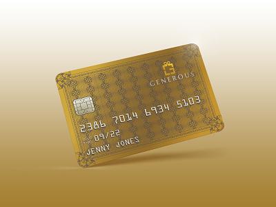 Generous Gift card / Credit card Gold Design gift card design giftcard gift card credit card design card design credit cards debit card credit card
