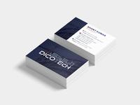 DicoТech Business card Concept