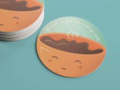 Cute coffee coaster texture illustration coffee adobe illustrator cc cute art cute coaster design coaster giveaway sticker mule stickermule