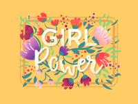 Girl power Typography art | Happy International Women's day!